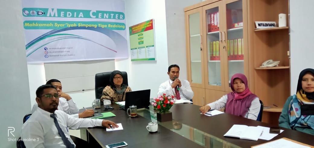Panitera Serta Pejabat Kepaniteraan MS Simpang Tiga Redelong Ikuti Pembinaan dari MS Aceh